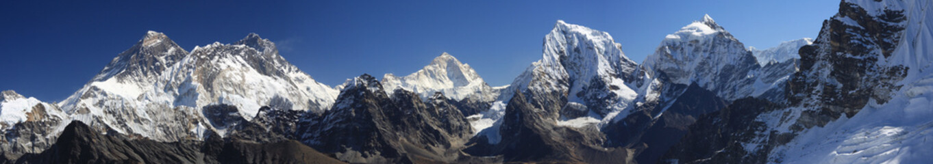 Panorama of Everest from Renjo Pass