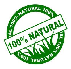 100% naturel web bouton ou vignette verte une couleur
