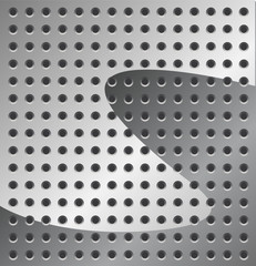 Metal Background in grey color with Holes