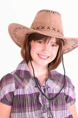 Mädchen mit Cowboyhut