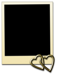 Photo Frame With Metallic Hearts