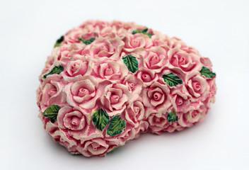 coeur sculptés de roses