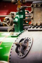 steam traction engine boiler detail