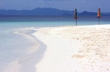 Parasols on beach