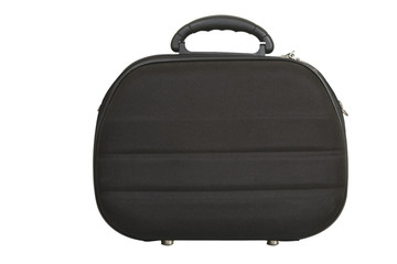 black handbag, modern luggage