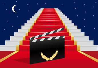 escalier - tapis rouge - cinéma - réussite - succès - gloire - star - films