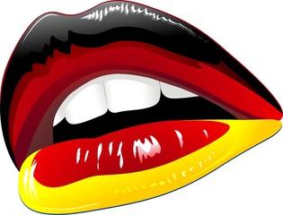 Labbra Sensuali Bandiera Germania-Germany Flag Sensual Lips