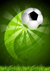 Grunge soccer ball background