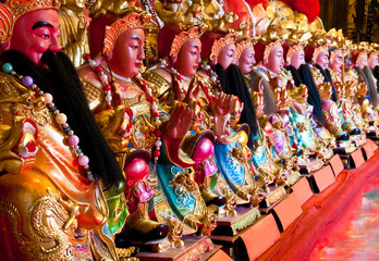 Chinese god statues