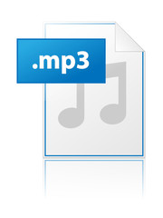 MP3 icon (sound music audio file format extension type vector)