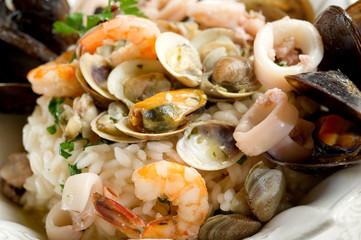 sea fruits risotto- risotto ai frutti di mare