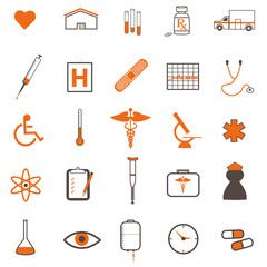Medical Icons Orange