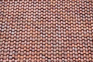 temple roof tile on background