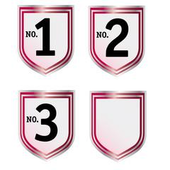 Wappen mit Platzierungen