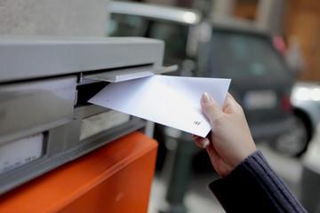 girl posting a letter in Czech Republic
