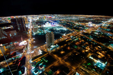 Foto auf AluDibond Las Vegas Las Vegas Strip at Night