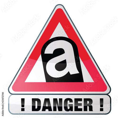 Danger risque d 39 amiante fichier vectoriel libre de for Prix diagnostic amiante garage