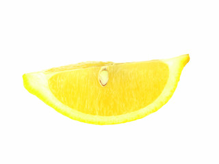 lemon slice isolated
