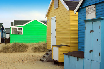 Coloured Beach Huts