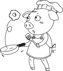 A Pig as a Chef
