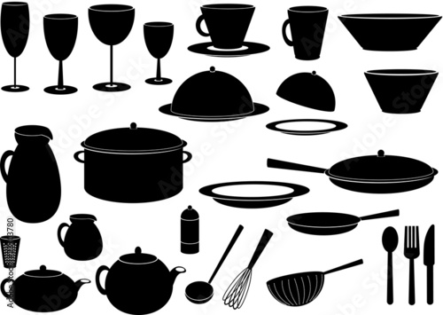kochen symbole silhouette stockfotos und lizenzfreie vektoren auf bild 23703780. Black Bedroom Furniture Sets. Home Design Ideas