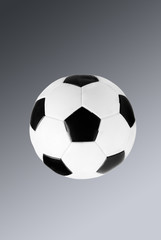 soccer ball isolated on gradient background