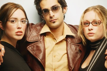 Group With Trendy Glasses