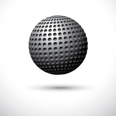 Iron ball on a white background. Vector illustration
