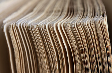 Vintage book pages closeup