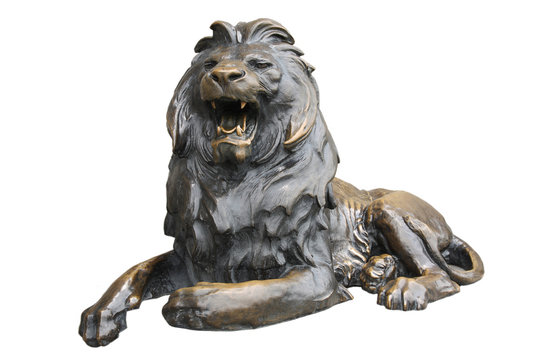 copper lion sculpture