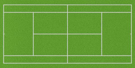 Tennisplatz Rasen