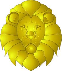 Blason du lion en or