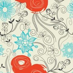 Fototapete - Floral seamless pattern