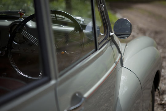 Vintage car side angle