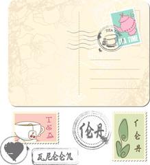 postage set - tea time
