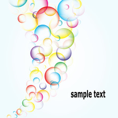 Abstract multicolored bubbles background