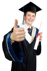 happy boy graduate
