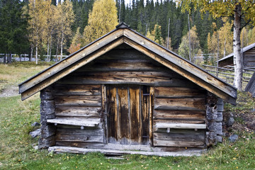 Old cabin in mountain