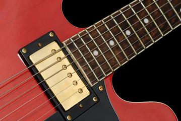 Red Elecric Guitar Close-up