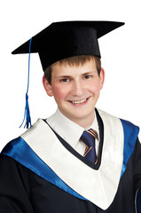 happy smiley graduate boy