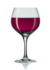 Wineglass and red wine
