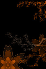 Farbige Blumenornamente mit Platz für Text