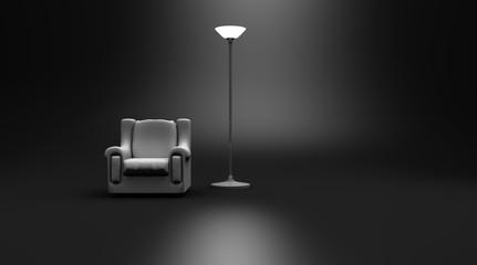 White Reading Chair