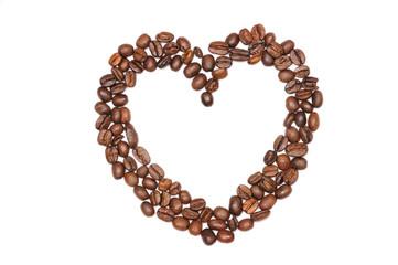 empty heart of coffee