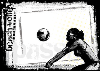 horizontal volleyball poster