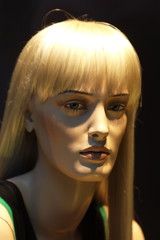 face of a showroom dummy