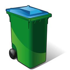 poubelle de tri sélectif bleu- journaux, papiers, magazines