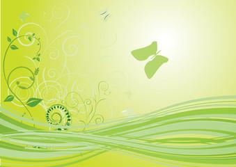 Flower background with bud, element for design, vector illustrat
