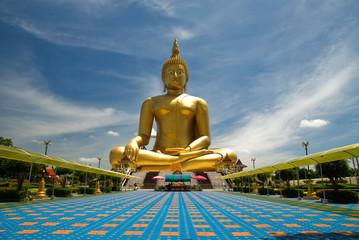 image of buddha,Wat muang,Angthong,Thailand