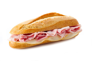 sandwich with cooked ham - panino al prosciutto cotto